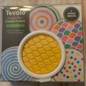 Tovolo Classic Print Cookie Cutters Cut & Press